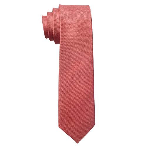MASADA Corbata para Hombre elaborada a mano y con gran esmero 6 cm de ancho - Rojo viejo