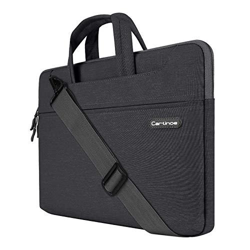 JUFENGYAO - Maletín Impermeable para Ordenador portátil de 13 a 13,3 Pulgadas, Estilo de Negocios, Color Negro
