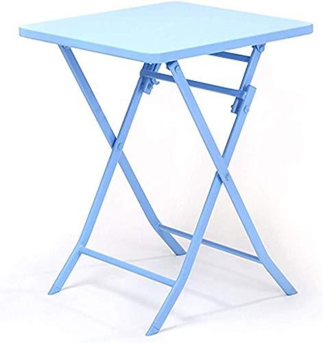 Computerbureau Europese eenvoudige klaptafel ijzer salontafel vrije tijd bijzettafel blauw, L * B * H, 55 * 55 * 71 cm