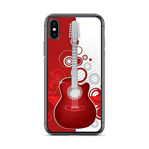 blitzversand Handyhülle Metal PINK kompatibel für LG G5 Gitarre rotsilber Schutz Hülle Case Bumper transparent rund um Schutz Cartoon M4