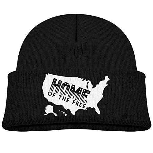 Hxincyu Children's Baggy Knitted Cap USA Map Home of The Free Beret Cap
