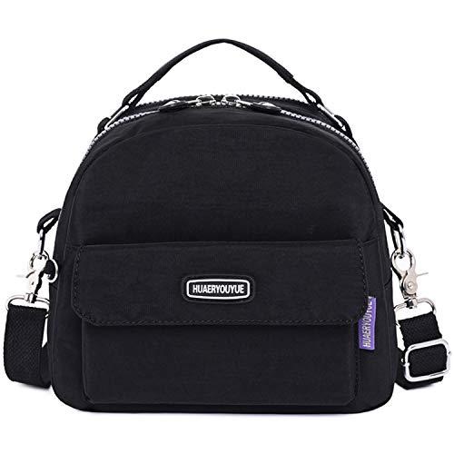 HUAERYOUYUE Women Shoulder Bag Waterproof Handbag Casual Backpack Messenger Bag for Travel Satchel Cross Body Bag Side Bag Lightweight