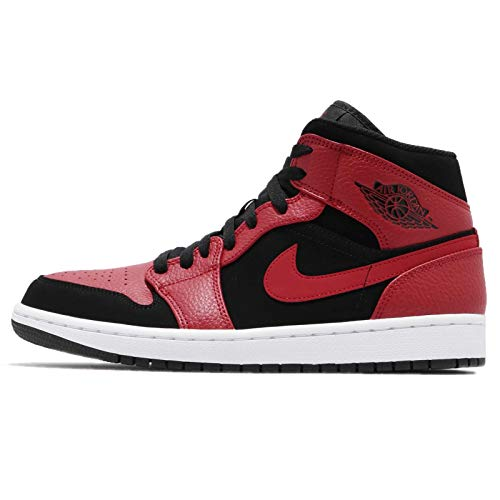 Nike Air Jordan 1 Mid, Zapatillas de Deporte para Hombre, Multicolor (Black/Gym Red/White 054), 51.5 EU