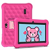 Tablet per Bambini 2 a 12 anni Android 10.0 (Certificato da Google GMS)- Tablet 7 Pollici Quad Core 2GB RAM 32GB ROM Kid-Proof Custodia - Google Play e Gioco Educativo (Rosa)