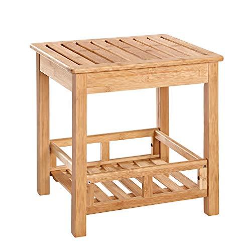 Badkamerbankje van bamboe hout - Stevig houten stoel/bankje voor badkamer - Handig als badkamerkruk/badkamerstoel - Decopatent
