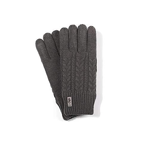 XVXFZEG Suave y caliente pantalla táctil de invierno guantes calientes de guantes de terciopelo acolchado de punto for hombres, de doble capa Plus, elástico puños, ciclo de los guantes for uso diario,