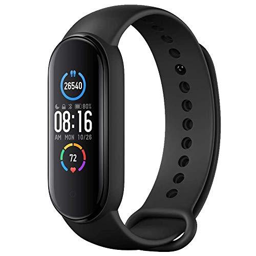 M5 Orologio Fitness Watch Smartwatch Schermo 1.1  AMOLED Uomo Donna Contapassi Cardiofrequenzimetro Controllo Notifiche Contacalorie Pressione Sanguigna Impermeabile Bluetooth