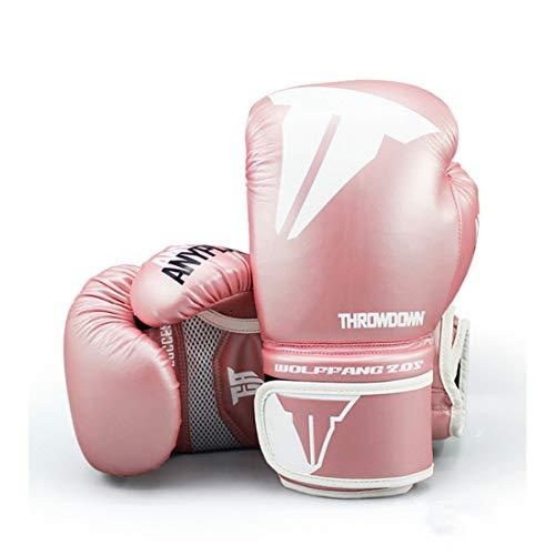 XJST Guantes de Boxeo para jóvenes, Pro Training Gloves, Guantes de Lucha Guantes de Boxeo Mits Sanda Karate Sandbag,Rosado,8oz