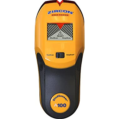 Zircon StudSensor A100 New Electronic Wall Scanner/Edge Finding Stud Finder/Live AC WireWarning Detection