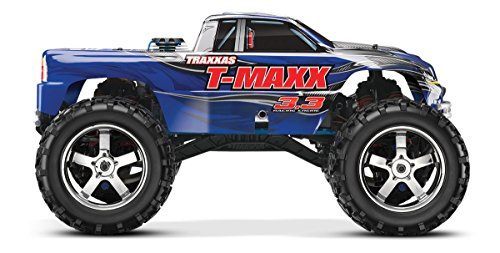 Traxxas T-Maxx 3.3: 1/10 Scale Nitro-Powered 4WD Monster Truck with TQi 2.4GHz Radio and TSM, Blue