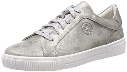 Rieker Damen N9110 Sneaker, Silber (Antiksilber 90), 40 EU