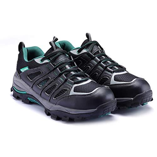 Zapatos de seguridad Mens Seguridad Formadores, con punta de acero casquillo y Kevlar media suela antideslizante zapatillas de deporte al aire libre for Trekking Escalada de reproducción botas de trab