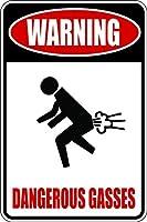 おかしいおなら警告危険なガスアルミニウム金属記号