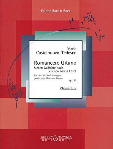 Romancero Gitano: 7 Gedichte. op. 152. gemischter Chor (SATB) und Gitarre. Partitur. (Gitarre-Bibliothek)