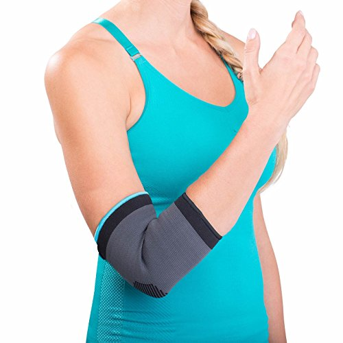 DonJoy Advantage Elastic Elbow Sleeve for Strains, Sprains, Swelling, Panels for Free Movement