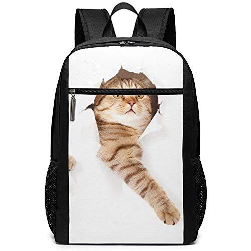 WlyFK Rugzak Leuke Katten Unisex Aangepaste Schoudertassen, Volwassene Student Dubbele Rits Sluiting Casual School Tas