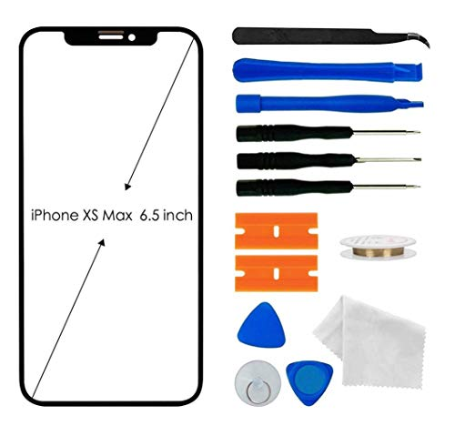 Original iPhone Xs Max Screen Glass Replacement, Front Outer Lens Glass Screen Replacement Repair Kit for Apple iPhone Xs Max Series