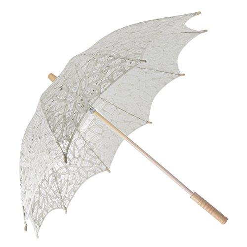 Fascigirl Sombrilla paraguas de la boda de encaje único al aire libre para las mujeres