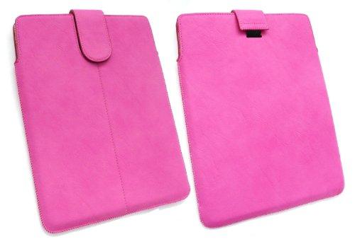Emartbuy® Rosa Pu-Leder secured Gleiten In Pouch Hülle Tashe Hülle Sleeve-Halter Mit Pull Tab Mechanismus Geeignet Für Odys Iron 9.7-Zoll-Tablet