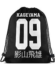 asdew987 Trekkoord tas Sport Gym Sack Party gunst Tassen Wrapping Gift Bag Trekkoord Rugzakken Opslag Goodie Tassen Cinch Bag - Kageyama Tobio Haikyuu!!