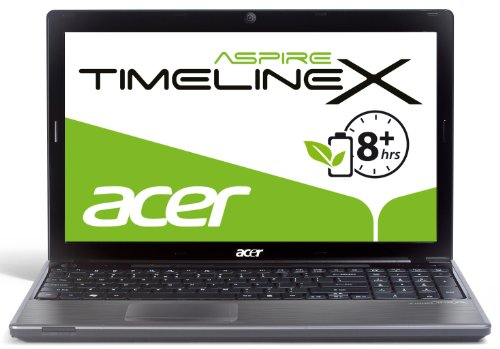 Acer Aspire TimelineX 5820TG-484G75Mnks 39,6 cm (15,6 Zoll) Laptop (Intel Core i5 480M, 2,6GHz, 4GB RAM, 750GB HDD, AMD HD 6550, DVD, Win 7 HP) schwarz/silber