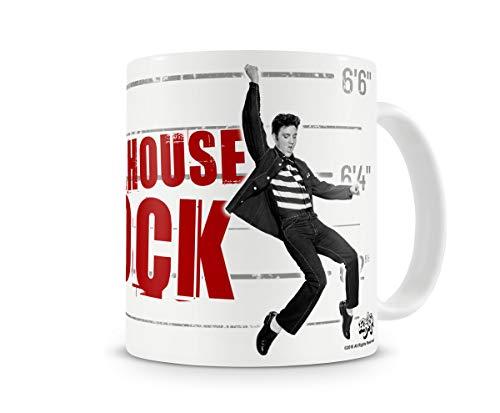 Jailhouse Rock Elvis - Taza de trabajo de calidad premium de 325 ml, con caja de regalo, té, café, oficina, trabajo en casa