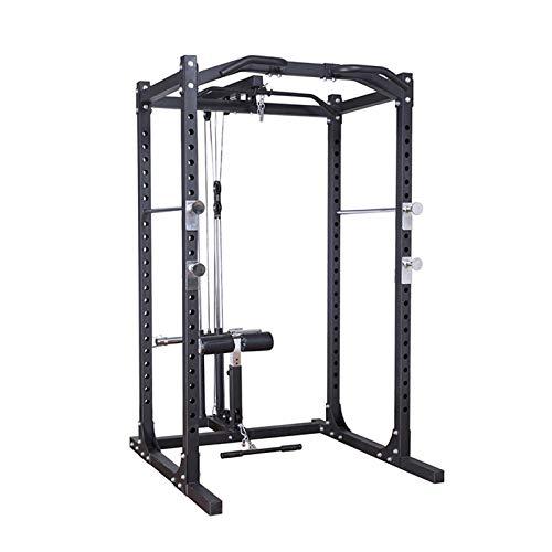 novi Power Rack, Entrenador multifunción Ajustable Equipo de Entrenamiento de Fuerza de Lujo Ajustable Equipo Completo de Gimnasio
