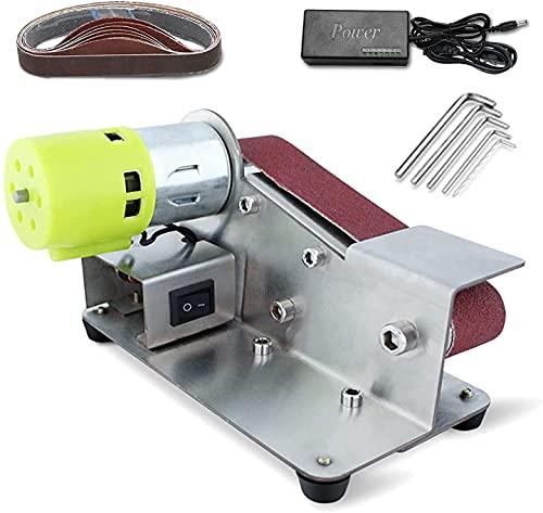 CFLDSG Mini cinturón eléctrico lijador Bricolaje Máquina de Pulido de Pulido de Bordes de cáncer Apex Multifuncional con Fuente de alimentación 96W y 10 Cinturones de Lijado (Color : 775)