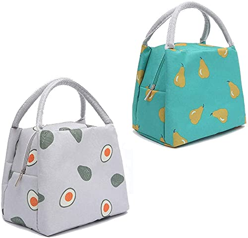 STOPWATCH 2PCS Bolsa Térmica Almuerzo Impermeable Fiambrera Isotermica,Lunch Bag con Bolsillo Trasero,para Hombres, Mujeres y niños