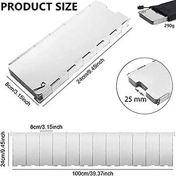 SunAurora Pare-brise Pliable en Aluminium, 12 Plaques Pare-brise de Camping Réchauds en Plein Air, Ultra-léger et Portable Pare-brise pour Barbecue de Pique-nique