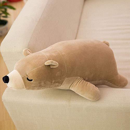 Spielzeug Cartoon schlafende Eisbär niedlichen Plüschspielzeug Gute Geburtstagsgeschenk Huggable Kissen für Kinder Mädchen Geschenke 50cm braun nein gekleidet 50 cm, Farbe: braun gekleidet (Farbe: bra