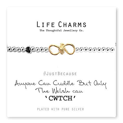 Leven bedeltjes iedereen kan knuffelen maar alleen de Welsh kan Cwtch Armband