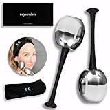 Ice Globes for Face, Cold Globes for Facials. 2 PC Face Ice Globes for Eyes. Facial Ice Globe, Cooling Ice Globes for Face Massage,Cryo Balls for Face, Ice Roller-Frozen Stainless Steel Beauty Globes.