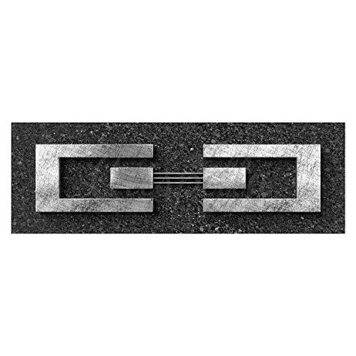 Jack DYRELL Silber AUF Granit V2 NEU - XXL Bild - Kunst - 150 x 50cm, Leinwand auf Holzrahmen aufgespannt, UV-stabil und wasserfest, Deko Bild abstrakt FineArtPrint Wandbild...
