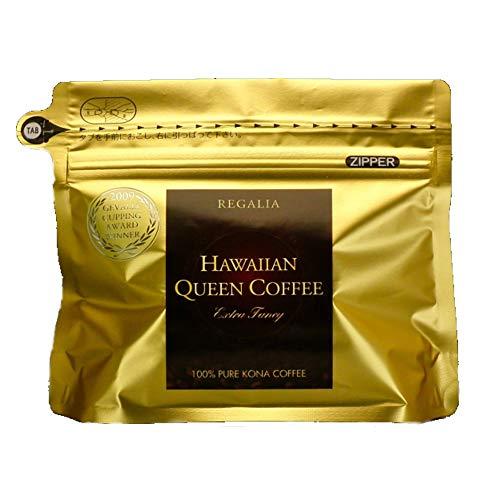 ハワイアンクイーンコーヒー REGALIA 100g (ハワイコナ100%)挽