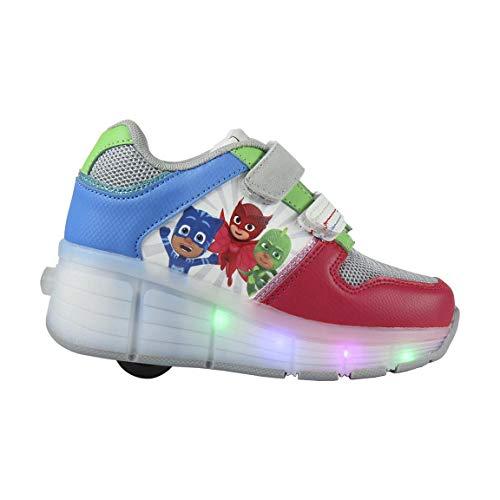 P J Masks   Zapatos Casuales   Zapatillas De Deporte con Luces Y Ruedas   Zapatos Fantásticos   Diseño De Patines   Gekko   Owlette   Catboy   EU 31  