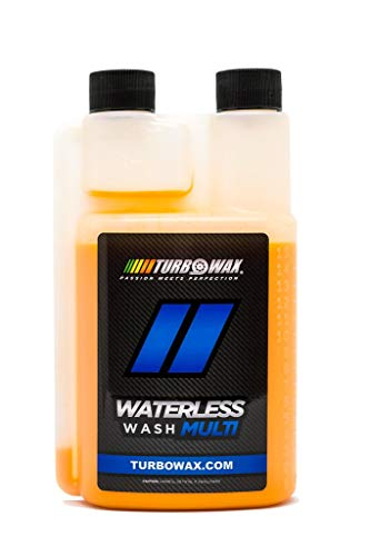 Turbo Wax Waterless Wash Concentrate 16oz Bottle- Use on Paint, Plastic, Metals, Glass, and Fiberglass, Safe
