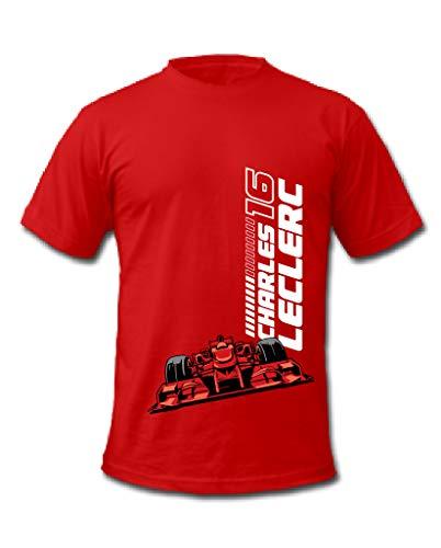 Cold Gun Formel 1 Charles Leclerc 16 Monaco Formel 1 Racing Driver T-Shirt Gr. XL, rot