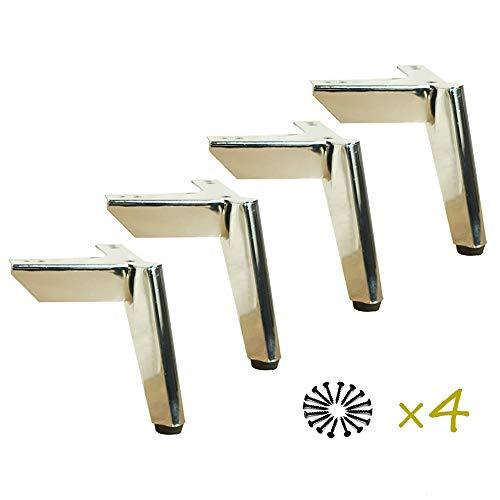 Furniture legs Patas del Gabinete De Acero Inoxidable 4 ×, Patas De Los Muebles Triangulares Modernos Negros, 150 mm, Capacidad De Carga De hasta 500 Kg DFVV
