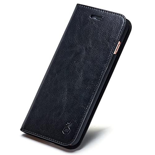 HONGGE Funda de Cuero de Lujo MUSUBO para iPhone XS MAX 7 Plus Wallet Phone Stand Cover para iPhone 8 6 más 6s más SE 11 Pro X Casos Coque (Bundle : 1, Color : A)