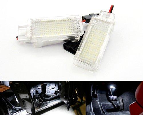 2x LED pour Sol d'Intérieur de Voiture Sous le Pas de Porte Lumière Blanche, pour A3 A4 A5 A6 Q5 TT Golf Scirocco 997 Boxster