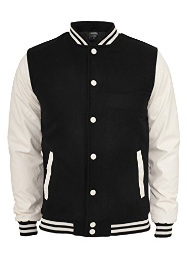 Get Ready for a Ride with Baby Drive Ansel Elgort Varsity Chaqueta bomber, chamarra de escuela secundaria blanca y negra, XX-Small