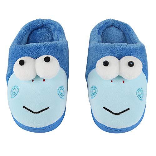 Flip Flop-GQ Gotas de algodón para niños de Dibujos Animados Zapatillas de Felpa súper Suaves Sin Deslizamiento Zapatillas Lindas Zapatillas de es con Memoria