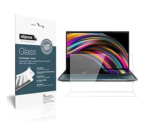 dipos I Protector de pantalla transparente compatible con Asus ZenBook Pro Duo 9H