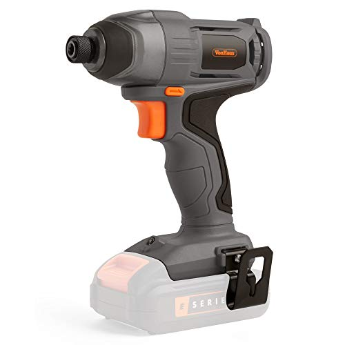 """VonHaus E-Series 18V Cordless Impact Driver, NO Battery or Charger Included – Variable Speed - Strong and Tight Drilling – Universally Compatible with ¼"""" Hex Shank Bits – Bare Tool"""