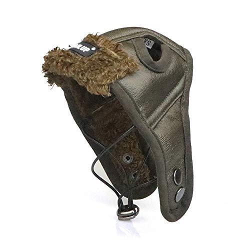 NashaFeiLi Pilotenmütze, Retro-Design, mit Ohrlöchern, für Chihuahua, Welpen, Yorkshire und kleine, mittelgroße und große Hunde (XXL, Braun)