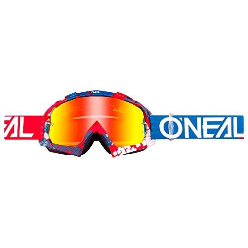 O'NEAL B10 Pixel Goggle Goggle MX DH Brille rot/blau/Radium Oneal