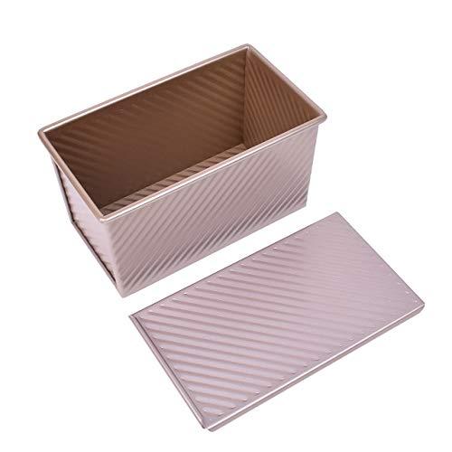Caja de Tostadas para Hornear Antiadherente con Tapa Aleación de Aluminio Bandeja de Pan Antiadherente Moldes de Pan Herramientas para Hornear Tostar Pasteles Tostadas