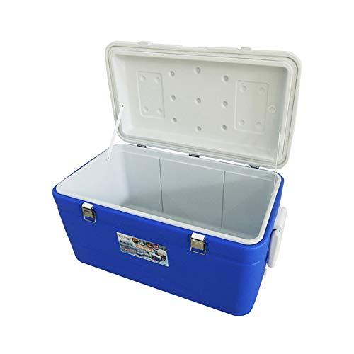 NZNDONE Outdoor-Auto Kühlschrank 95L Inkubator Gefrierschrank Fast-Food-Box Super große Seefischerei Box mit Radspule