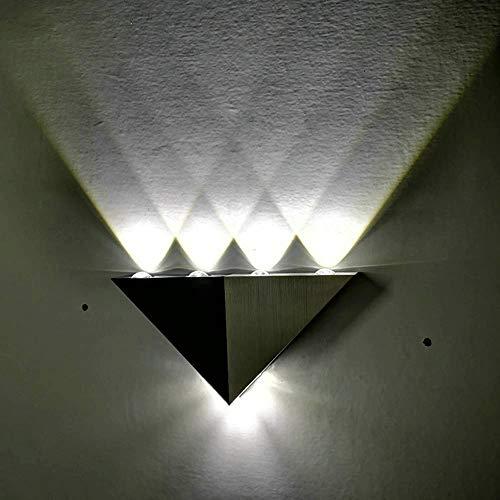 Iluminación de pared ligera para sala de estar. Ed moderna lámpara de pared triángulo de color LED, pared del dormitorio de luz de la noche de colores de fondo, Habitación Sala Bar Porche Corredor Dec